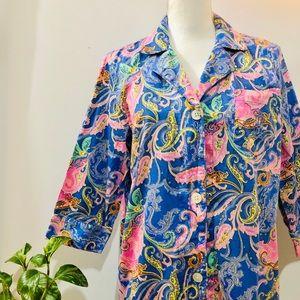 Ralph Lauren Periwinkle Paisley Night Shirt